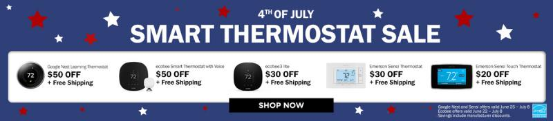 4th of July Smart Thermostat Sale